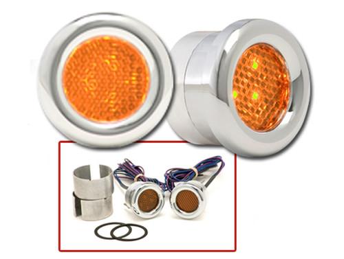 Round LED Marker Lights in Amber
