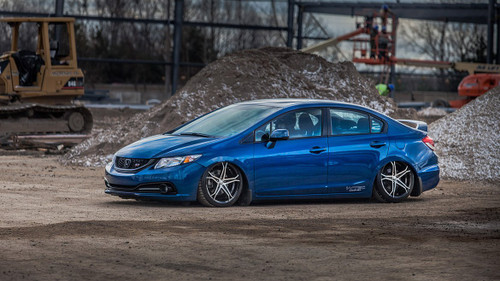 12-15 Honda Civic/13-17 Acura ILX Air Lift Kit with Manual Air Management- Side View