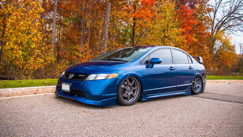06-11 Honda Civic Air Lift Kit with Manual Air Management- Side/Front View