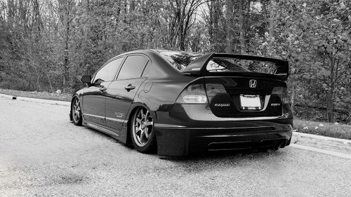 06-11 Honda Civic Si Air Lift Kit with Manual Air Management w/ No Rear Shocks- Back/Side View