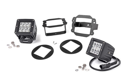Jeep 2-Inch Cree LED Fog Light Kit (Chrome Series| 07-09 Wrangler JK)