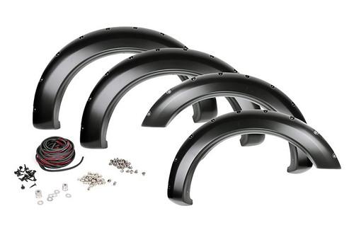 10-18 Dodge Ram 2500/3500 Pocket Fender Flares with Rivets (Unpainted)