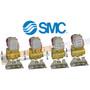 "4 pack of 1/4"" SMC pneumatic air valve part number VXD232AZ1DBXB"