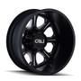 Cali Off-Road Brutal Rear Black/Milled Spokes 22X8.25 8-165.1 -180mm 116.7mm