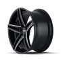 Touren TR73 Gloss Black/Milled Spokes 20X10 5-114.3 40mm 72.62mm