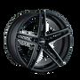 Touren TR73 Gloss Black/Milled Spokes 20X8.5 5-120 30mm 74.10mm