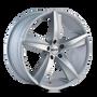 Touren TR72 Gloss Black/Machined Face 17X7.5 5-112 40mm 72.62mm