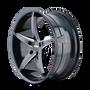 Touren TR70 Black/Milled Spokes 18X8 5-100 40mm 72.62mm