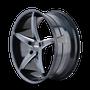 Touren TR70 Black/Milled Spokes 17X7.5 5-114.3 40mm 72.62mm