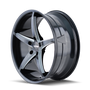 Touren TR70 Black/Milled Spokes 20X8.5 5-115 35mm 72.62mm