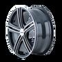 Touren TR62 Black/Machined Face/Machined Lip 17X7 5-110/5-115 40mm 72.62mm