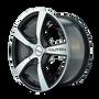 Touren TR9 Black/Machined Face 18X8 5-110/5-115 40mm 72.62mm