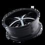Mazzi 364 Essence Gloss Black / Machined Face 22X9.5 5-115/5-120 18mm 74.1mm