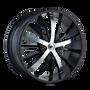 Mazzi 364 Essence Gloss Black / Machined Face 24X9.5 6-135/6-139.7 30mm 108mm