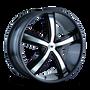 Mazzi 359 Boost Black/Machined Face 18X7.5 5-108/5-114.3 40mm 72.62mm