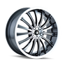 Mazzi 351 Hype Black/Machined Face/Machined Lip 18X7.5 4-100/4-114.3 40mm 67.1mm