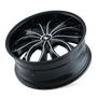Mazzi 342 Hustler Gloss Black/Machined Face 22X9.5 5-115/5-120 18mm 74.1mm