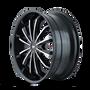 Mazzi 341 Fusion Gloss Black/Machined Face 18X7.5 5-108/5-114.3 40mm 72.62mm