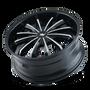 Mazzi 341 Fusion Gloss Black/Machined Face 24X9.5 6-135/6-139.7 30mm 106mm
