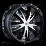 Mazzi 337 Edge Gloss Black/Machined Face 22X8.5 5-110/5-115 35mm 72.56mm