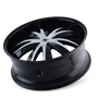 Mazzi 337 Edge Gloss Black/Machined Face 20X8.5 5-112/5-120 35mm 72.56mm