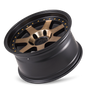 Mayhem Prodigy 8300 Matte Black w/ Bronze Tint 17x9 6-135 -6mm 87.1mm - wheel tilted view