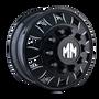Mayhem BigRig 8180 Front Black/Milled Spokes 24.5X8.25 10-285.75 168mm 220.1mm