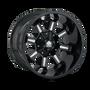 Mayhem Combat 8105 Gloss Black/Milled Spokes 20X9 8-165.1/8-170 0mm 130.8mm