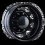 IONBILT IB02 Rear Black/Milled Spokes 24.5X8.25 10-285.75 168mm 220.1mm