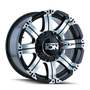 ION 186 Black/Machined Face 18X9 6-135/6-139.7 -12mm 87mm