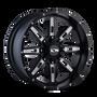 Ion 184 Satin Black/Milled Spokes 20X9 8-165.1/8-170 18mm 130.8mm