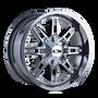 Ion 184 PVD2 Chrome 17X9 5-114.3/5-127 -12mm 87mm