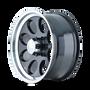 Ion 171 Black/Machined Lip 17X9 8-165.1 0mm 130.8mm