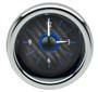 "3"" Round Universal VHX Clock Carbon Fiber Blue Background"