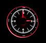 """3"""" Round Universal VHX Clock White Night View"""