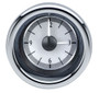 "3"" Round Universal VHX Clock Silver Alloy Background"
