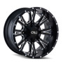 Cali Off-Road Americana Satin Black/Milled Spokes 20X9 8-165.1/8-170 18mm 130.8mm