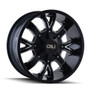 Cali Off-Road Dirty Satin Black/Milled Spokes 20X9 8-180 18mm 124.1mm