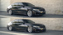 2020 BMW 3 Series (G20) and Touring (G21) Air Lift Kit Manual Air Management - raised up and lowered view on vehicle