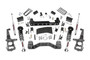 4in Ford Suspension Lift Kit (15-19 F-150 4WD) - Lifted struts w/ N3 Shocks