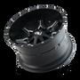 Cali Offroad Obnoxious 9107 Satin Black/Milled Spokes 20x9 5x5.00/5x5.50 0mm 87mm