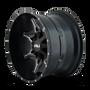 Cali Offroad Obnoxious 9107 Satin Black/Milled Spokes 20x9 6x120/6x5.50 0mm 78.10mm - side view