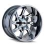 Cali Off-Road Twisted Chrome 22x12 6x135/6x5.50 -44mm 108mm