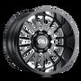 Cali Offroad Summit Gloss Black/Milled Spokes 20x10 5x5.00 -25mm 78.1mm