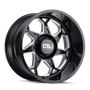 Cali Offroad Sevenfold Gloss Black/Milled Spokes 20x12 8x170 -51mm 130.8mm