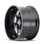 Cali Offroad Sevenfold Gloss Black/Milled Spokes 20x12 8x170 -51mm 130.8mm - side view