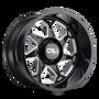 Cali Offroad Sevenfold Gloss Black/Milled Spokes 24x12 8x170 -51mm 130.8mm