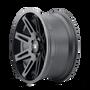 ION 142 Matte Black 17x9 5x127 -12mm 78.1mm- side wheel view