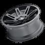 ION 142 Matte Black 18x9 8x165.1 0mm 130.8mm - tilted wheel view