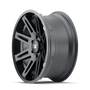ION 142 Matte Black 20x9 6x139.7 25mm 106mm - side wheel view
